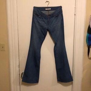 J Brand hip hugger wide leg jeans